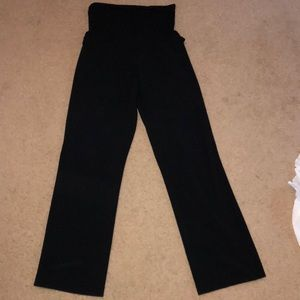 Maternity black slacks